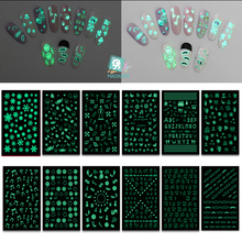 SN Luminous Series New 2018 Nail Art Stickers Tips Decoration Nails Wraps Harajuku Merry Christmas Xmas Music Manicura stickers