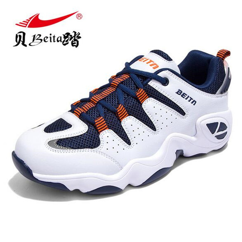 Beita  Mens Sports Running Shoes Outdoor Breathable Comfortable Shoes Lightweight Athletic Sneakers Zapatos Deportivos BT6807 peak sport men outdoor bas basketball shoes medium cut breathable comfortable revolve tech sneakers athletic training boots