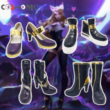 Coshome LOL KDA Ahri Akali Kaisa Evelynn Cosplay Costume Shoes Women Boots(China)