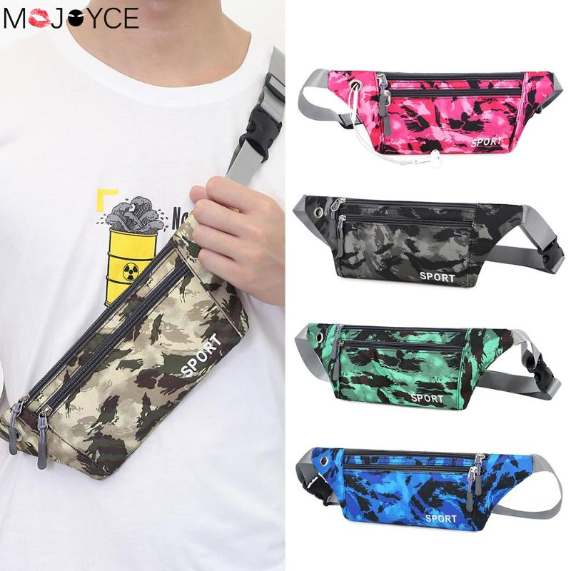 Unisex Camouflage Nylon Waist Bags For Men Women Casual Sling Shoulder Chest Pack Pouch Unisex Usual Belt Bag Dropshipping