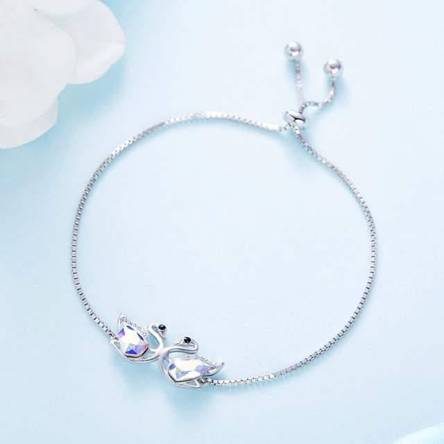 875abb48780b7 Cdyle Crystals from Swarovski Women Bracelets & Bangles Couple Swan  Austrian Rhinestone S925 Sterling Silver Fashion Jewelry