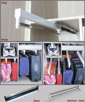 Premintehdw Top mount pull out pull out Wardrobe closet cloth Jacket hanger hanging rack bar Ball Bearing Slide Heavy Duty