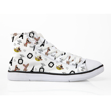 Chihuahua in Paris Canvas Shoes Woman Dogs Lovers Vulcanize