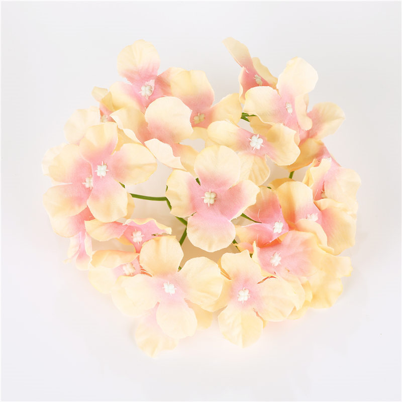 1 Pcs 27 Petals Silk Hydrangea Artificial Flowers For Party Home