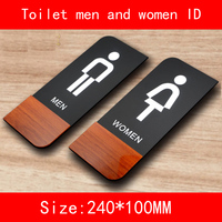 A Pair PMMA Size 24 10CM Toilet Sexy Sign Plate Back Sponge Tape Easy Install Home