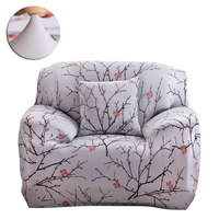 Elastic Sofa Cover Printed Flowers Slipcover Tight Wrap All Inclusive Corner Sofa Cover Stretch Furniture Covers