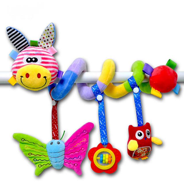 1PC Soft Infant Crib Bed Stroller Toy Spiral Baby Toys For Newborns ...