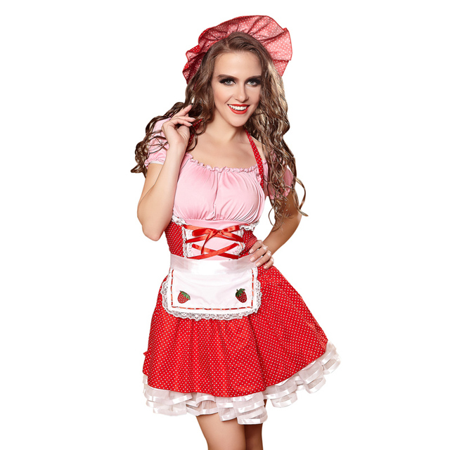 2017 adult carnival party games club sexy french maid costume plus size halloween costumes for women