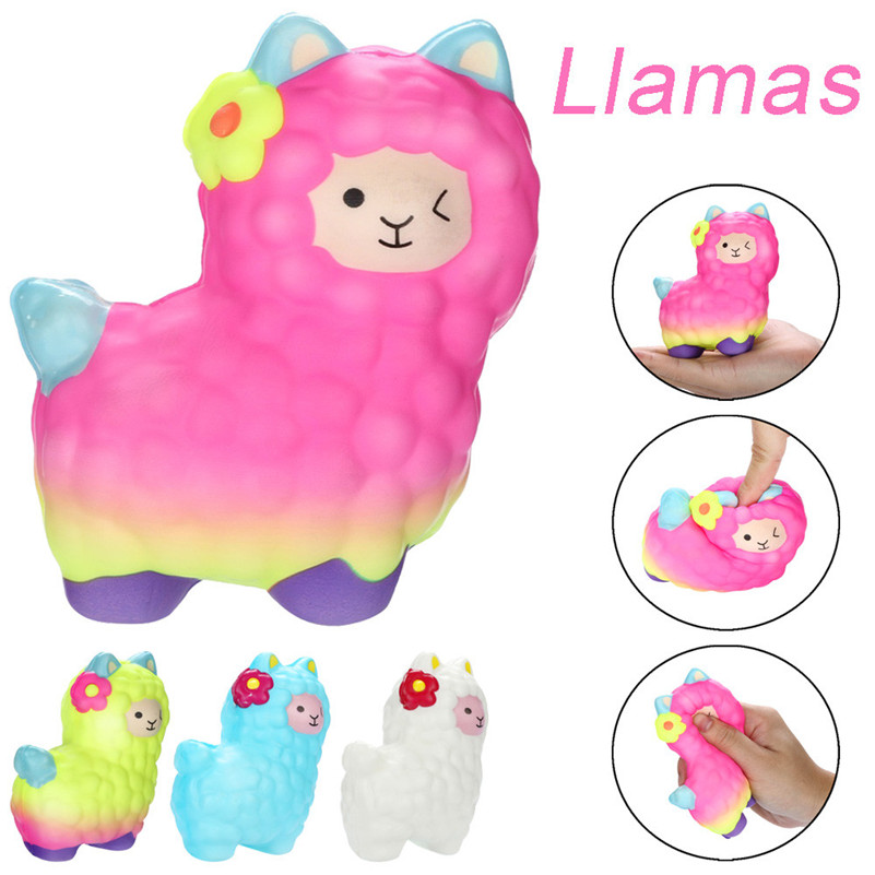 1pc Anti-stress Squishies Adorable Llamas Alpaca Slow Rising Fruits Scented Squeeze Stress Relief Toys For Kid Child A1