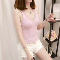 18 Summer New Women S V Collar LACE VEST Elastic Body Armor F1789