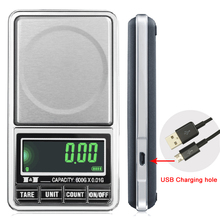 600g x 0.01g Electronic Jewelry Scale Digital Pocket Weight Mini Precision Balance USB interface LCD weight scale
