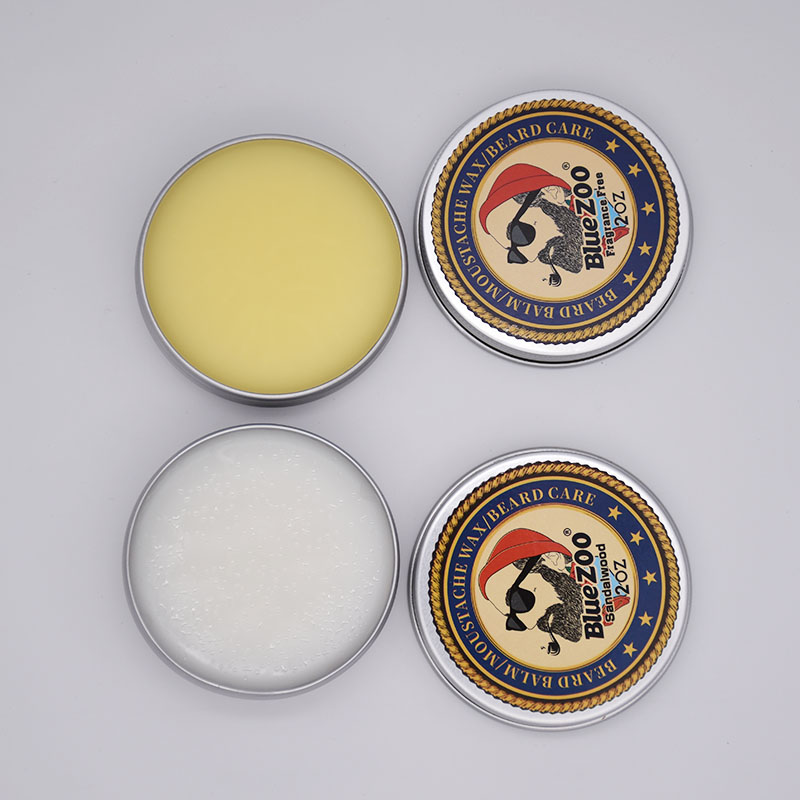Image 3 - Blue ZOO Men Organic Beard Oil Balm Moustache Wax Styling Beeswax Moisturizing Smoothing Gentlemen Beard Care Natural Beard Balm-in Hair Loss Products from Beauty & Health