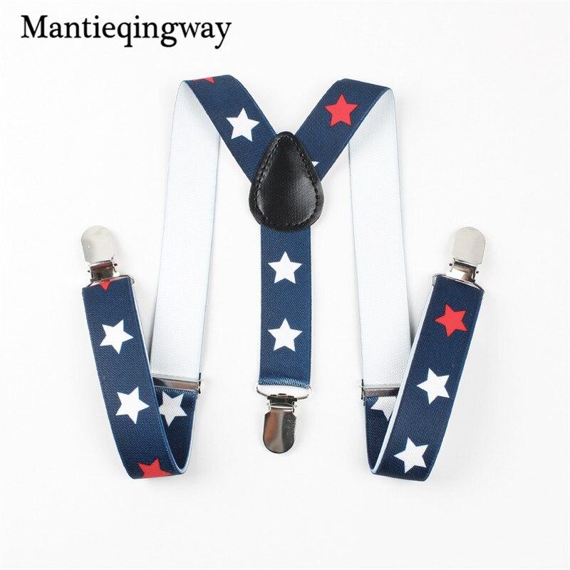 Mantieqingway Newest Suspenders Kids Boys Girls Braces Adjustable Braces Baby Straps 3 Clip-on Elastic Suspender For Children