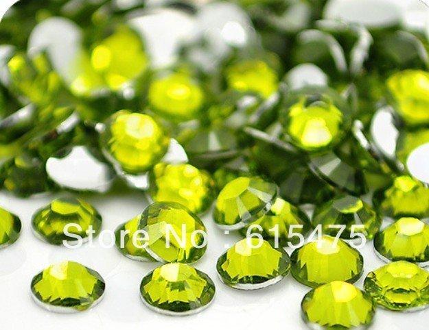 3mm Jelly Olivina AB Cor SS10 strass Resina cristal flatback, Nail Art Pedrinhas, 100,000 pçs/saco