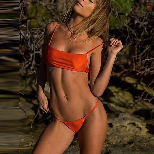 ISHOWTIENDA Sexy Bikinis Set Women Tankini Brazilian Swimwear Print Swimsuit Push-Up