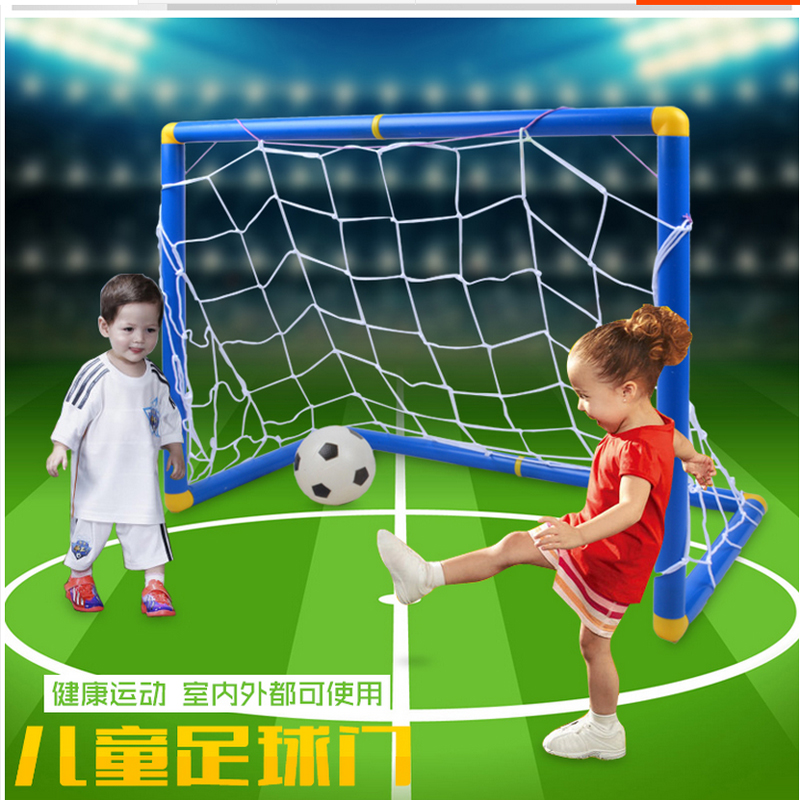 LEMOCHIC Portable Folding Children Football Goal Door Set Football Gate Outdoor Sports T ...