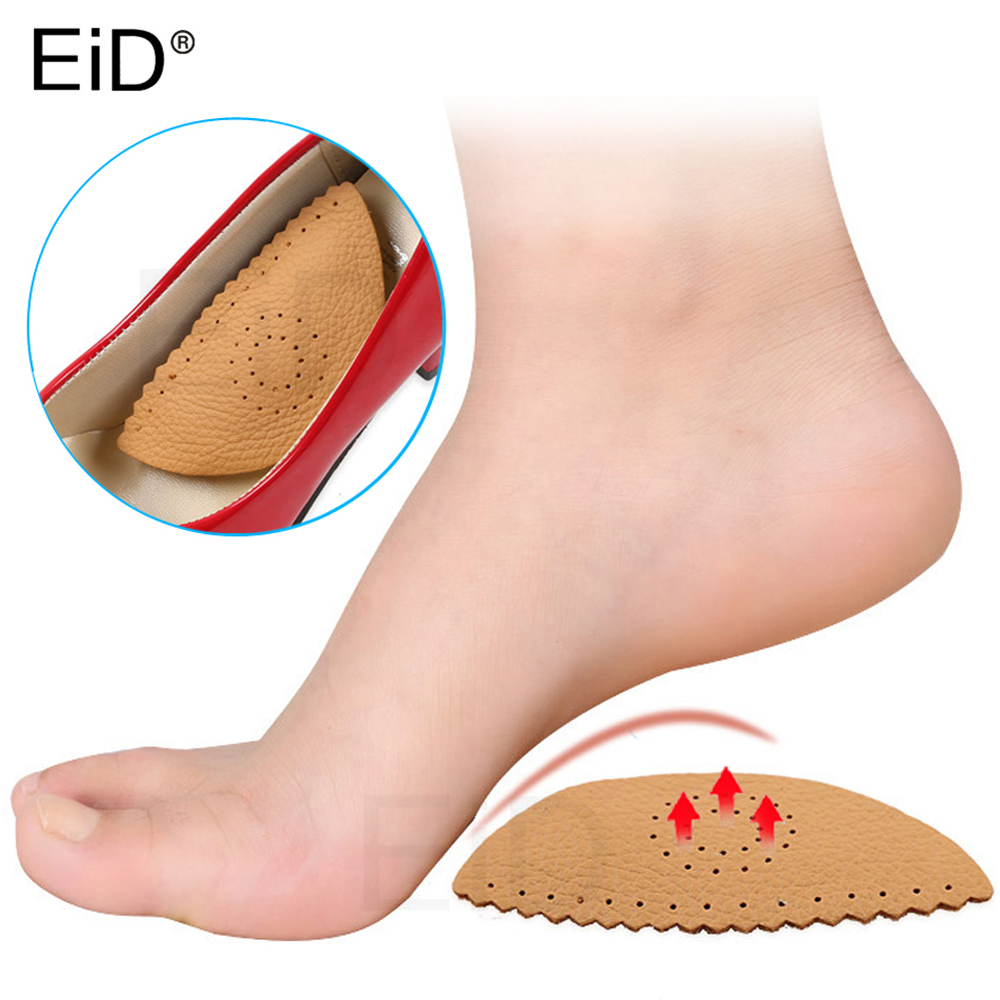 EiD Leather Foot Insoles Arch Support Plantar Fasciitis Heel Aid Feet Cushion Fallen Heel Pain Relief Shock Healthy Unisex