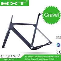 2018 NEW BXT arrival Aero Road or MTB Bike Frame S/M/L size Cyclocross Frame Disc Bike Carbon Gravel frame thru axle