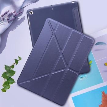 For iPad 2018 Case iPad Air 2 Air 1 5 6 Case 9.7 Smart Mutiple Folding Cover for iPad Air 2 / iPad 6th generation Case Funda