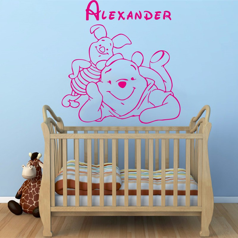 Winnie The Pooh Baby Wall Stickers Home Decoration Custom