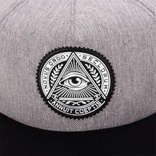 Triangle Eye Printed Men's Hats