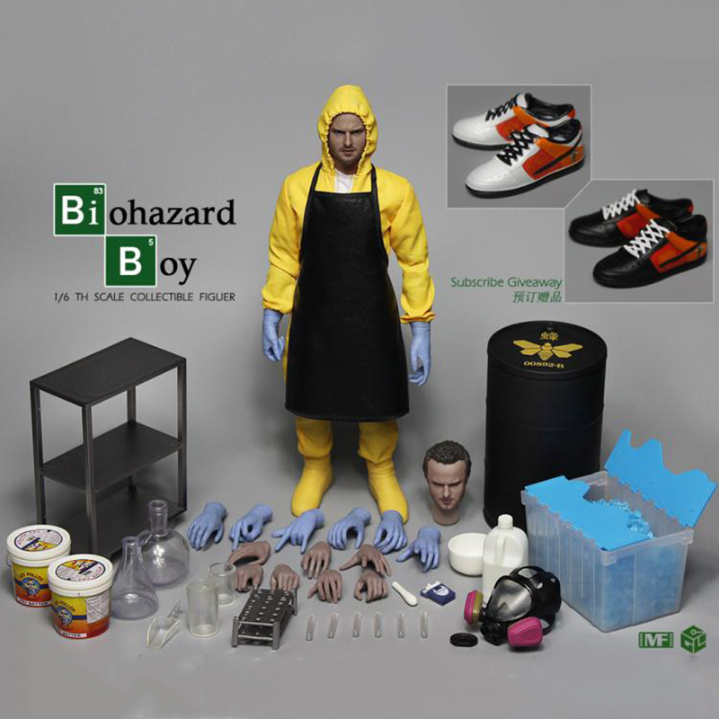 Full set Action Figure 1/6 Scale breaking Bad Small powder Jessie Pinkman figure doll Chemical laboratory Luxury vision сумка jessie