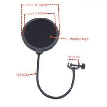 Синий mantis черный двухслойный Студийный микрофон ветрового стекла поп-фильтр для диктофона поп-фильтр для трансляции онлайн
