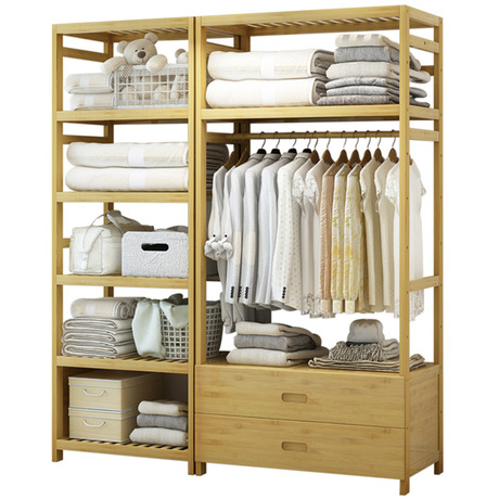 US $449.99 10% OFF|Wardrobes Bedroom Furniture Home Furniture bamboo  wardrobe muebles de dormitorio armario assembly closet clothing storage  new-in ...