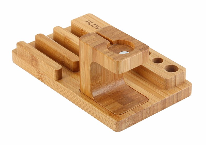 For iPhone Apple iWatch Wood Charge Holder (6)