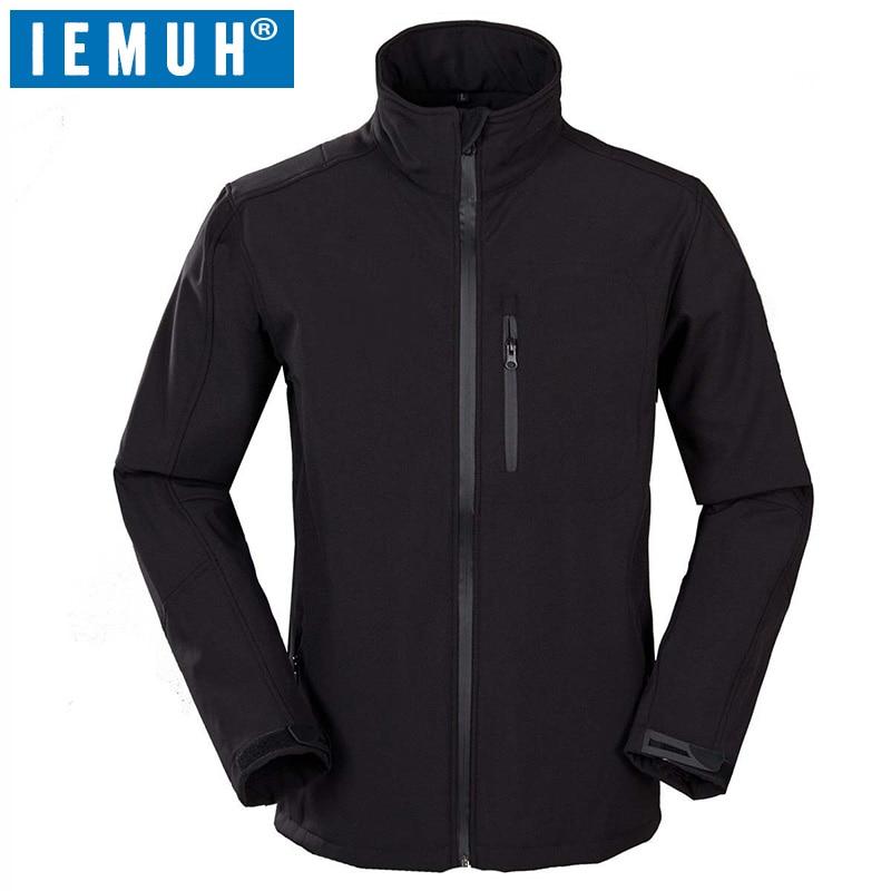 IEMUH Brand Men Softshell Fleece Jackets Men Winter Autumn Outdoor Climbing Trekking Fishing Windproof Breathable Camping