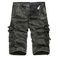 YJSFG HOUSE Hot Men's Jeans Shorts Army Camouflage Casual Short Camo Cargo Military Combat Shorts Denim Jeans Brand Hip Hop Hot
