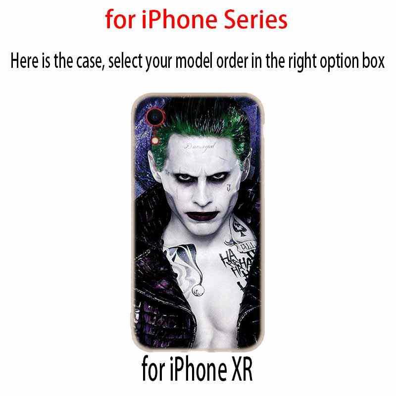 ケースカバー iphone 11 プロ X XS 最大 XR 6 6S 7 8 プラス 5 4S 、 SE ジョーカーとハーレークイン