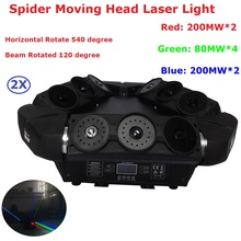 Eyourlife 2Pack Moving Head laser Light RGB 3 Colors Triangle Spider Laser Lights For Nightclubs Disco Mobile DJ