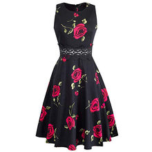 9a04c8d11388 dress everyday Women s Sleeveless Print Cocktail A-Line Embroidery Party Wedding  Guest Dress vestido floral vestido verano