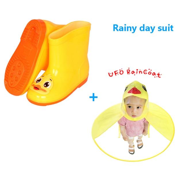 НЛО детский дождевик сапоги Милая желтая утка дождь навес крышка Девочка Мальчик Дождевик куртка Детское Пончо Плащ