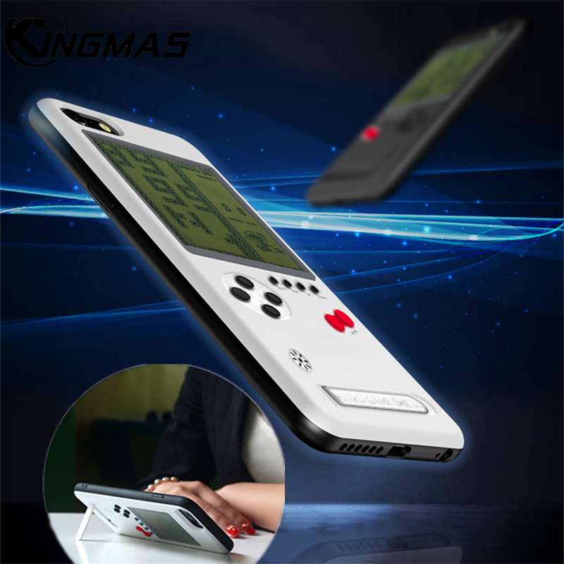 New Retro Gameboy Phone Case with stand For iPhone X 6 6S 7 8 Plus Can Play Game Cover Combo Bracket Phone shell coque gift
