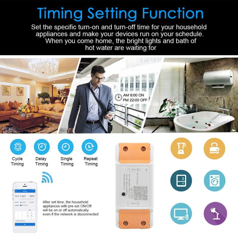 WiFi Smart Switch Smart Home Automation Module App Remote Control On / Off Work with Amazon Alexa Google Home