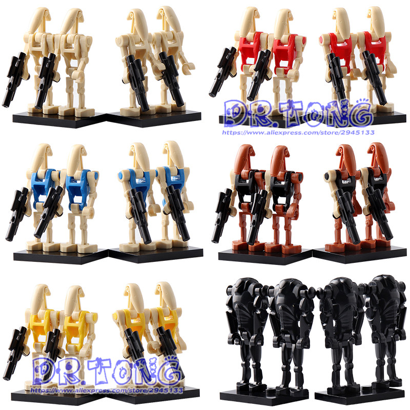 4pcs/lot C009-014 STARWAR Baby Toys Rogue One Combat Robot Doath Trooper Battle Droid RO-GR Action Figures Building Blocks TOYS