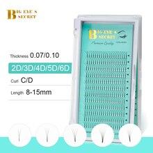 BES 2D 3D 4D 5D 6D Fans Volume Eyelash Extension Individual Premium Cilios Premade Russian Cluster Eye Makeup Tool