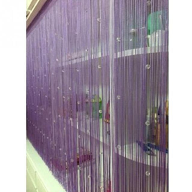 NEW Romantic Decorative String Curtain With Beads Tassel Door Precious Window Panel Room Divider For