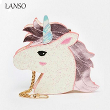 LANSO Famous Brand Unicorn Shape Symphony Skinnydip Wallets Fashion Personality Hologram Purse Leather Cute Clutch Wallet Bags
