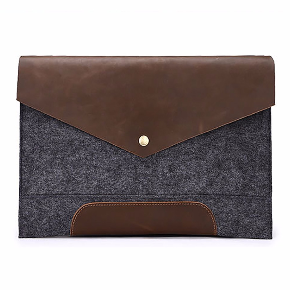 Crazy Horse Genuine Leather Mens Clutch Briefcase Famous Brand Casual Vintage Business Bag Male font b