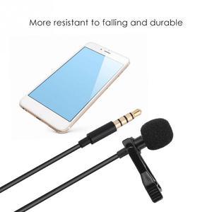 Image 5 - Micrófono portátil de solapa con Clip profesional, manos libres, Mini condensador con cable para iPhone, Samsung, Android y Windows, 3,5mm