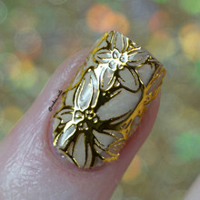 Golden Nail Stickers