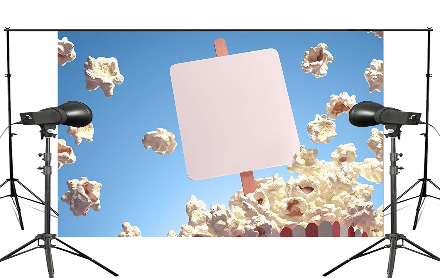 150x220cm Beautiful Popcorn Pops out in Blue Sky Childrens Paradise Backdrop Studio Props Wall