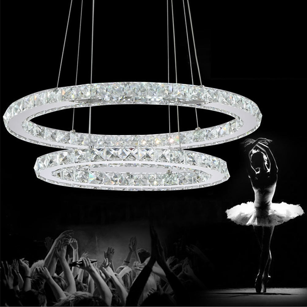 Crystal modern led ceiling light warm white Bedroom living room lights Circle Rings Cristals avize Indoor  Modern Ceiling Lamp black or white rectangle living room bedroom modern led ceiling lights white color square rings study room ceiling lamp fixtures