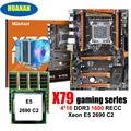 Удивительные HUANAN Чжи deluxe X79 LGA2011 игровая материнская плата с M.2 NVMe Процессор Intel Xeon E5 2690 C2 2,9 ГГц с охладитель Оперативная память 64G RECC