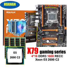 Amazing HUANAN ZHI deluxe X79 LGA2011 gaming motherboard with M.2 NVMe CPU Intel Xeon E5 2690 C2 2.9GHz with cooler RAM 64G RECC(China)