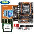 Increíble HUANAN ZHI deluxe X79 LGA2011 de placa base con M.2 NVMe CPU Intel Xeon E5 2690 C2 2,9 GHz con enfriador de RAM 64G RECC