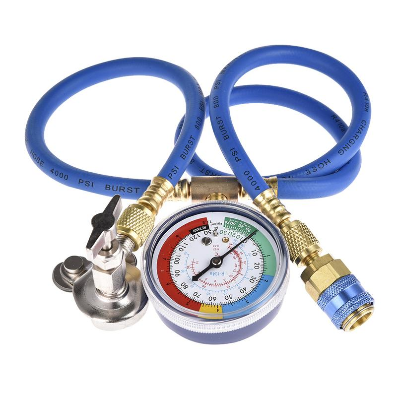 Car Air Conditioning Repair >> Us 13 87 7 Off Car Air Conditioning Repair Tool R134a Air Conditioner Fluoride Tube Quick Release Refrigerant Connector Cold Pressure Gauge In A C